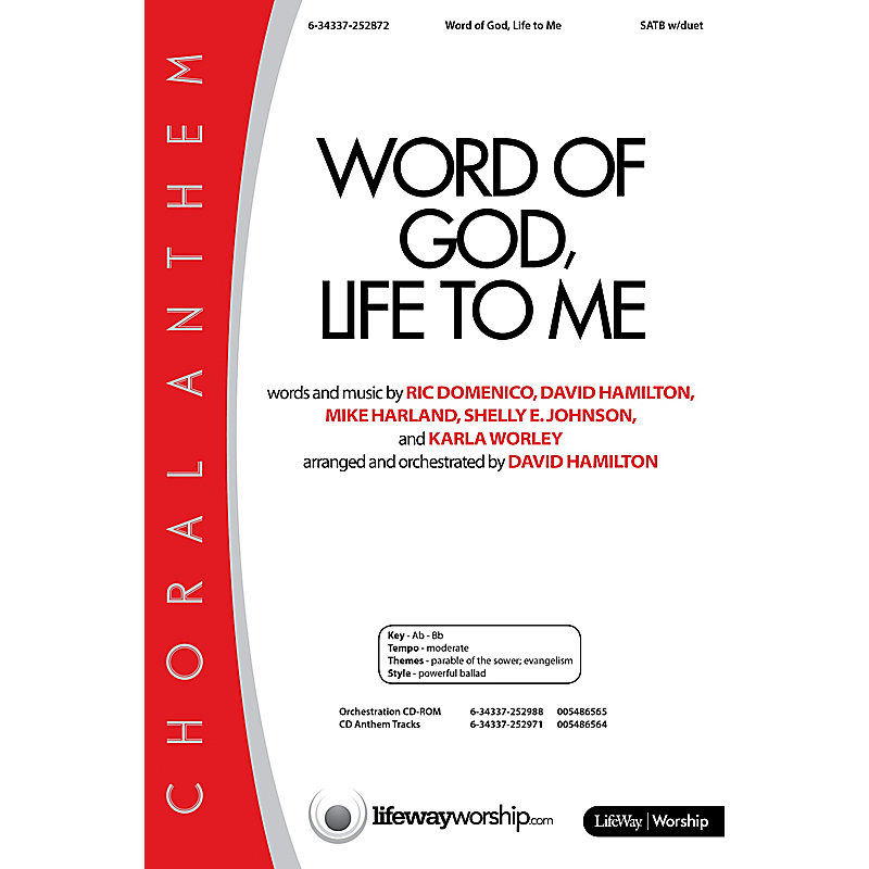 Word of God, Life to Me - Anthem
