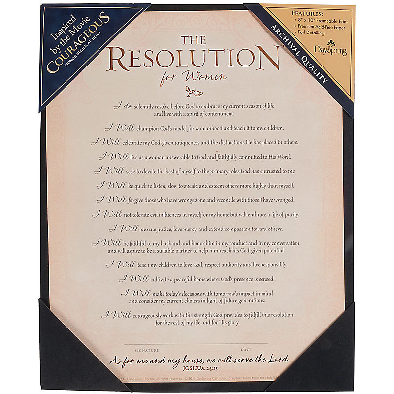 The Resolution for Women Frame-Ready Print