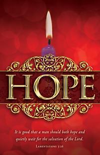Advent Bulletins: Week 1 Hope | LifeWay Christian Bulletin