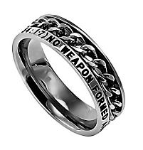 no weapon silver chain ring
