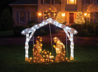 Captivating Lighted Outdoor Nativity Scene