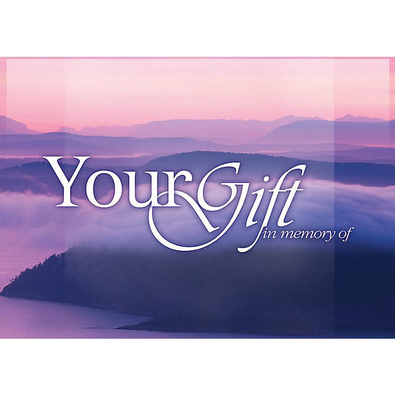 Acknowledgement Card: In Memory - Ocean