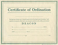 Ordination for deacon broadman church supplies staff for Deacon ordination certificate template