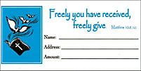 Envelope: Freely Give Offering Bill Size