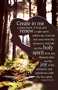 Create In Me a Clean Heart - Bulletin