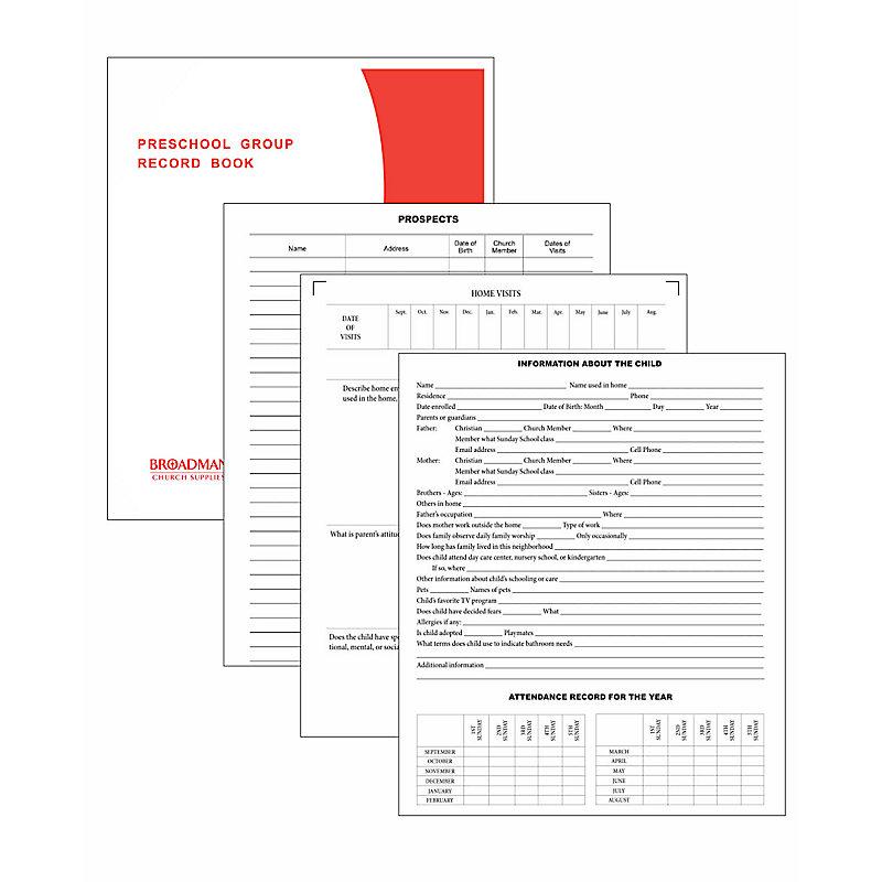 Preschool Group Report Book (Form 185-S)