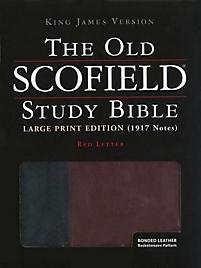 Old Scofield Study Bible-KJV-Large Print (Black/Burgundy)