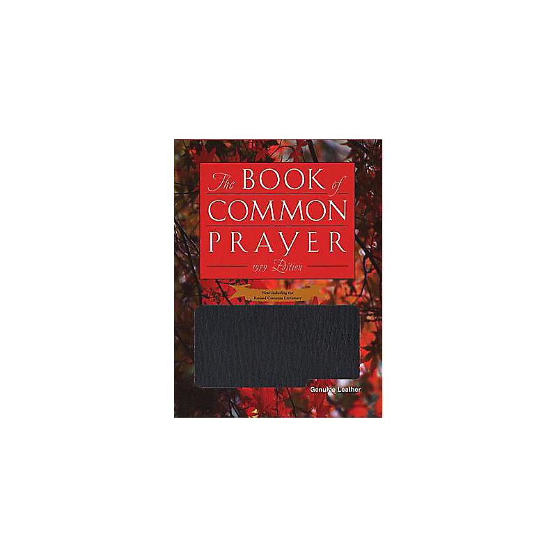 Book of Common Prayer Personal Genuine Leather Black
