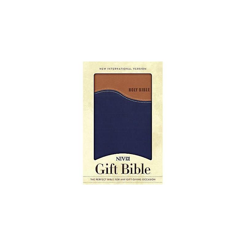 Gift Bible-NIV (Tan/Blue)