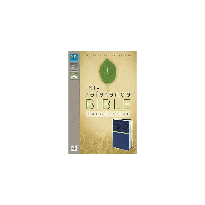 Reference Bible-NIV-Large Print                                                                                                                        (Blueberry/Melon)