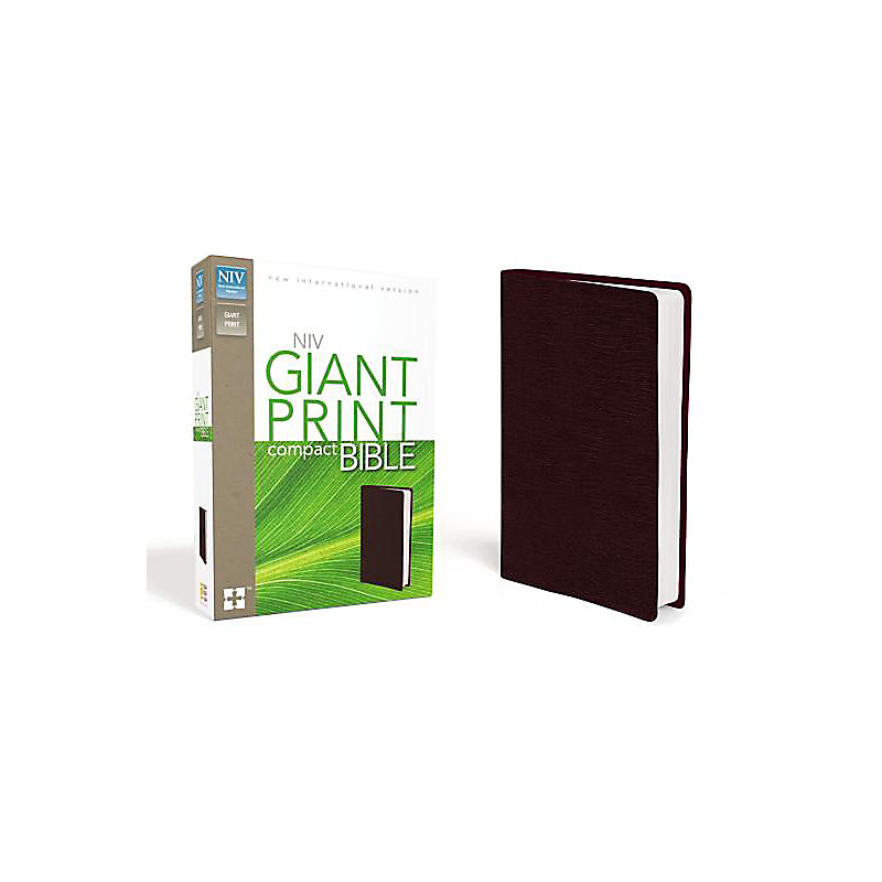 Compact Bible-NIV-Giant Print                                                                                                                          (Burgundy)