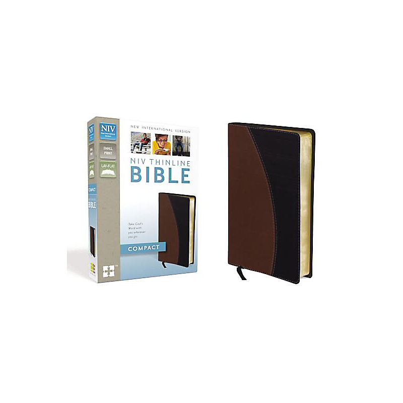 Thinline Bible-NIV-Compact                                                                                                                             (Black/Tan)