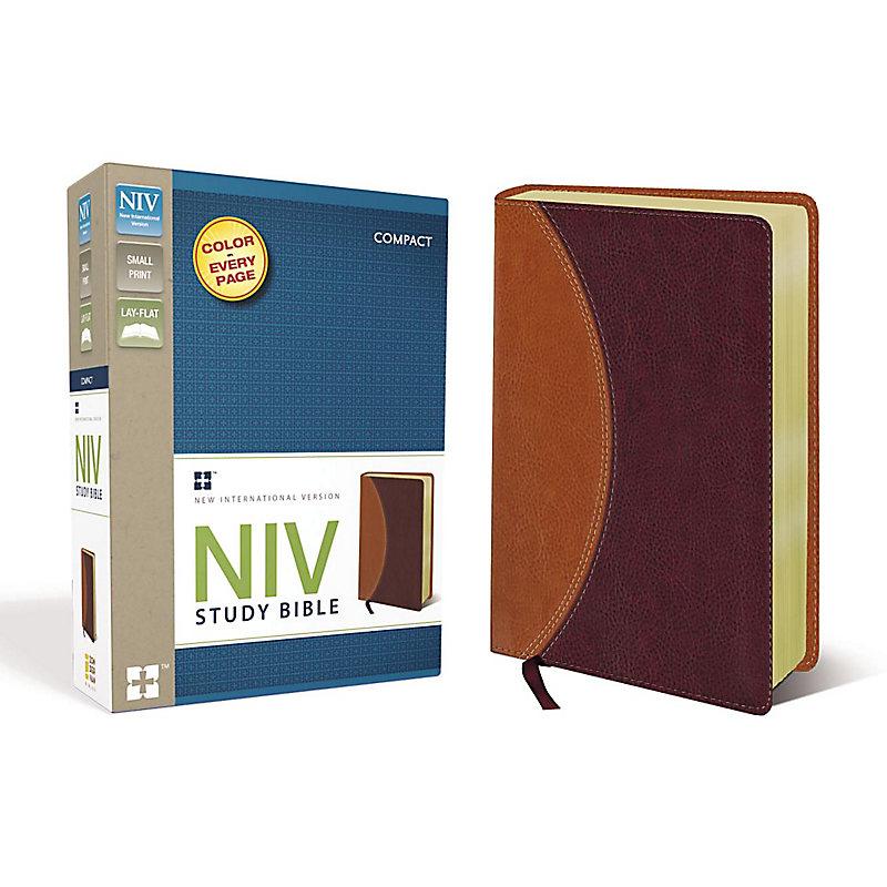 NIV Study Bible, Compact