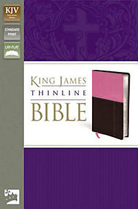Thinline Bible-KJV                                                                                                                                     (Chocolate/Orchid)