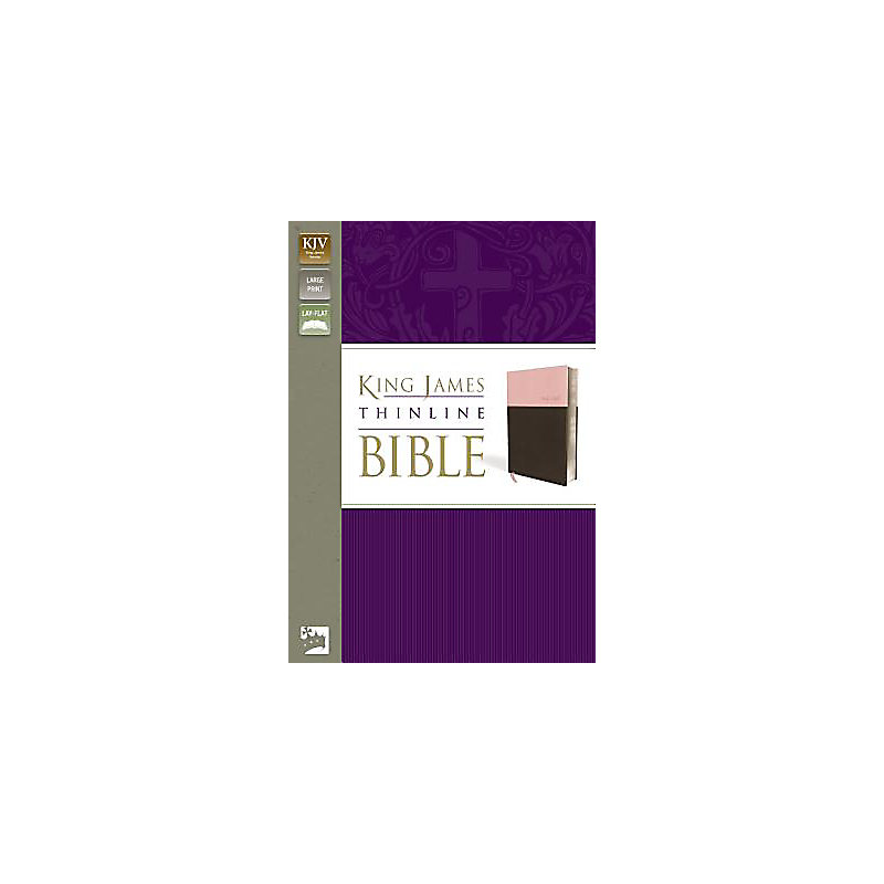 Thinline Bible-KJV-Large Print                                                                                                                         (Pink/Brown)