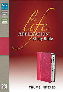 Life Application Study Bible - NIV (Honeysuckle Pink)