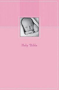 NIV Baby Keepsake Bib Pnk Duo NIV