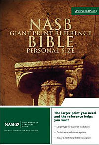 Nasb reference bible giant print personal size bonded for New american standard bible red letter edition