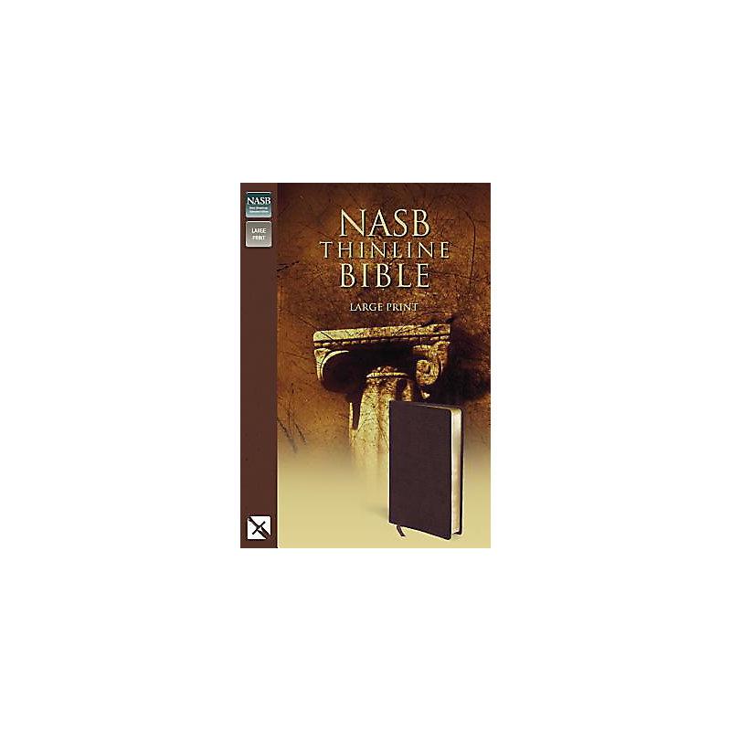 Thinline Bible-NASB-Large Print: burgundy