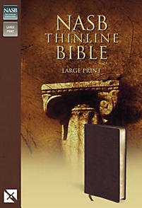Nasb thinline bible large print bonded leather for New american standard bible red letter edition