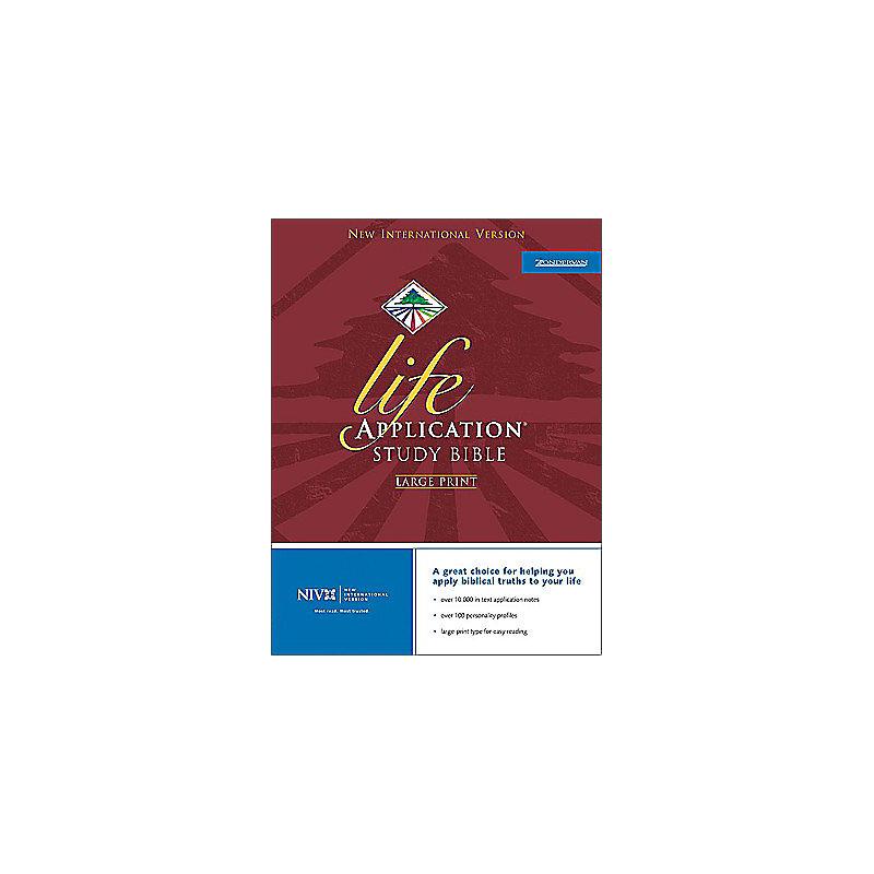Life Application Study Bible - NIV Large Print (Black)
