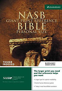 Giant Print Reference Bible-NASB-Personal Size                                                                                                         (Burgundy)