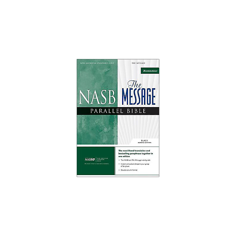 NASB/The Message Parallel Bible - Black
