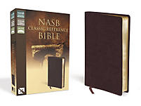 nasb classic reference bible bonded leather burgundy With nasb red letter