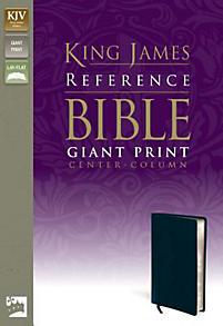 Reference Bible-KJV-Giant Print Center Column: navy