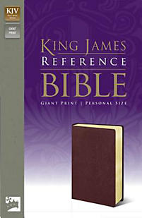 Reference Bible-KJV-Giant Print Personal Size (Burgundy)