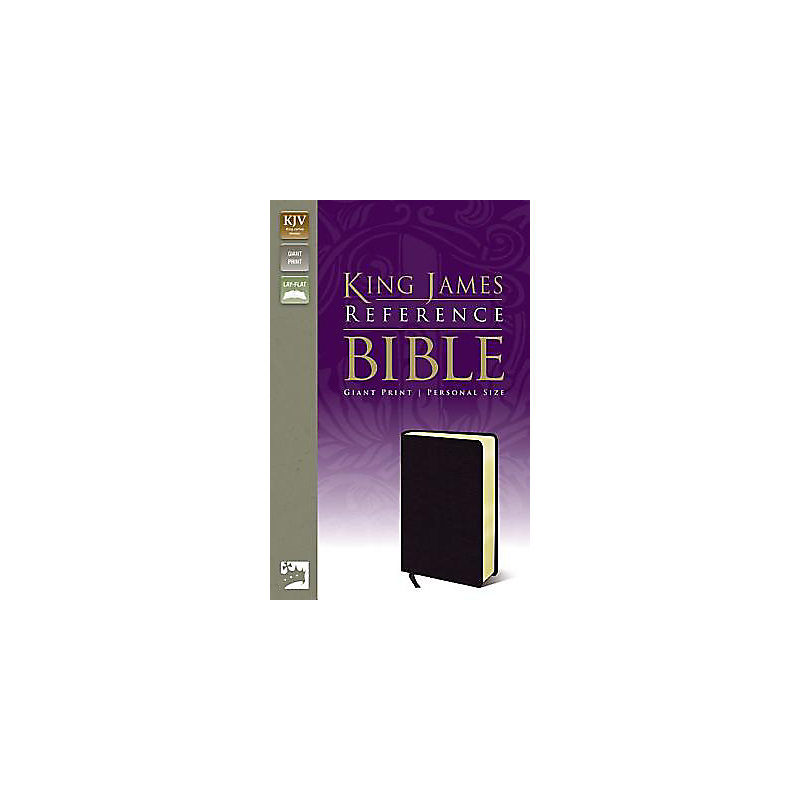 King James Reference Bible, Giant Print Personal Size - Black
