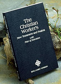 Christian Workers New Testament and Psalms-KJV: With Plan of Salvation                                                                                 (Black)