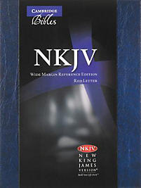 Wide-Margin Reference Bible-NKJV (Blue)