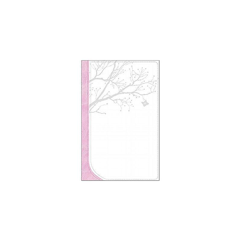 God Girl Bible Snow White/Pretty Pink, Tree Design Duravella