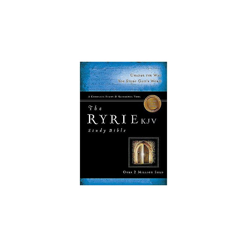 The Ryrie KJV Study Bible Genuine Leather Black- Red Letter