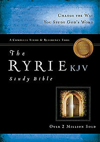 The Ryrie KJV Study Bible Hardcover- Red Letter Indexed