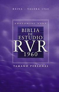 Rvr 1960 Biblia de Estudio, Tapa Dura, Con ??Ndice