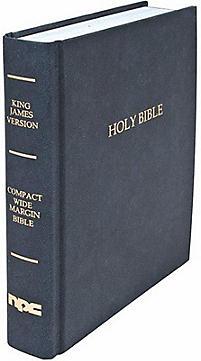 Black Compact Wide Margin Bible King James Version