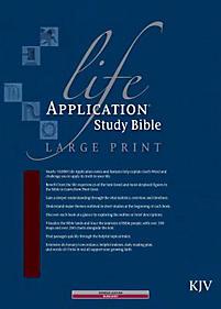 Life Application Study Bible - KJV Large Print (Burgundy)