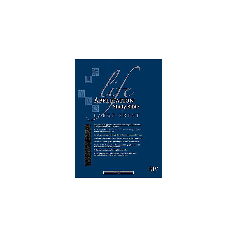 Life Application Study Bible - KJV Large Print (Black)