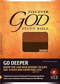 Discover God Study Bible - NLT (Chesnut/Brown)
