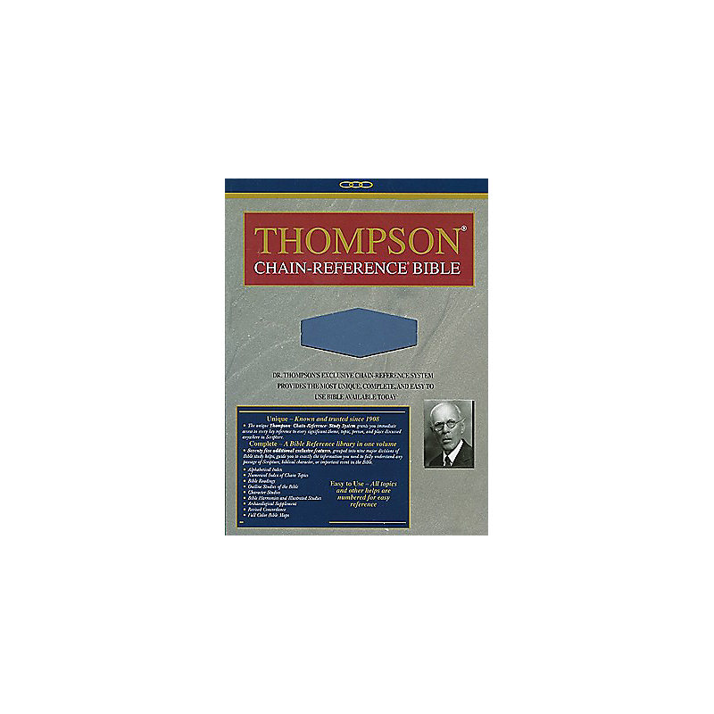 Thompson Chain Reference Bible-KJV-Handy Size                                                                                                          (Blue)