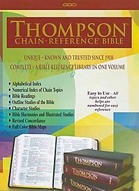 Thompson Chain Reference Bible-KJV-Large Print                                                                                                         (Black)