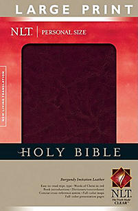 Personal Size Large Print Bible-NLT                                                                                                                    (Burgundy)