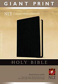 Giant Print Bible-NLT                                                                                                                                  (Black)