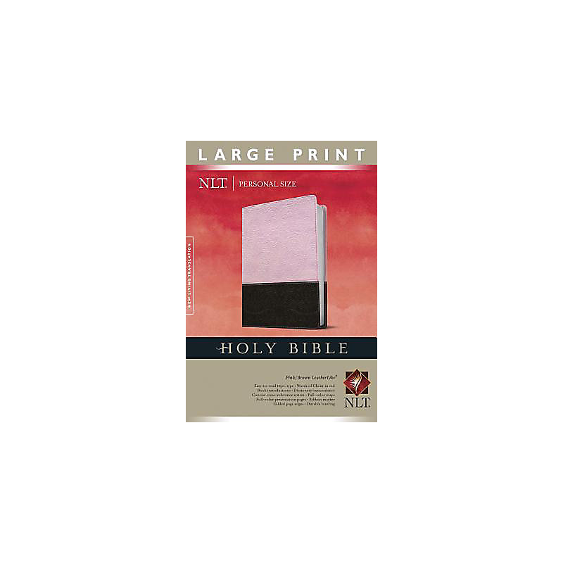 Personal Size Bible-NLT-Large Print                                                                                                                    (Pink/Brown)