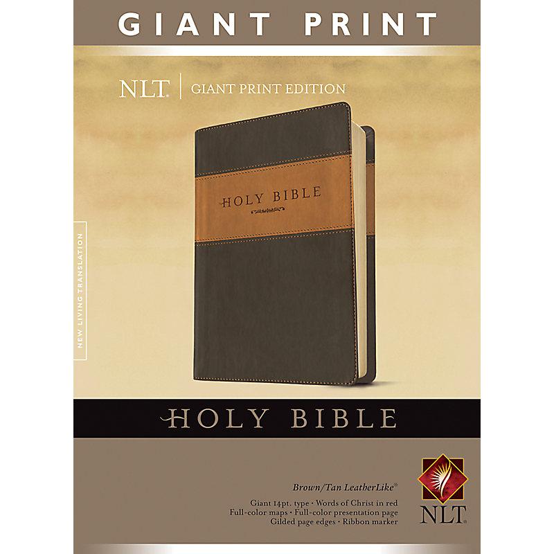 Giant Print Bible-NLT                                                                                                                                  (Tan/Brown)