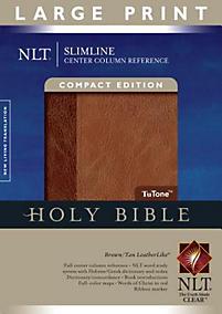 Slimline Reference Bible-NLT-Large Print Center Column Reference                                                                                       (Tan/Brown)