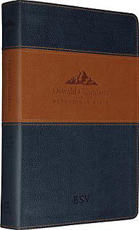 ESV Oswald Chambers Devotional Bible (Trutone, Navy/Tan)
