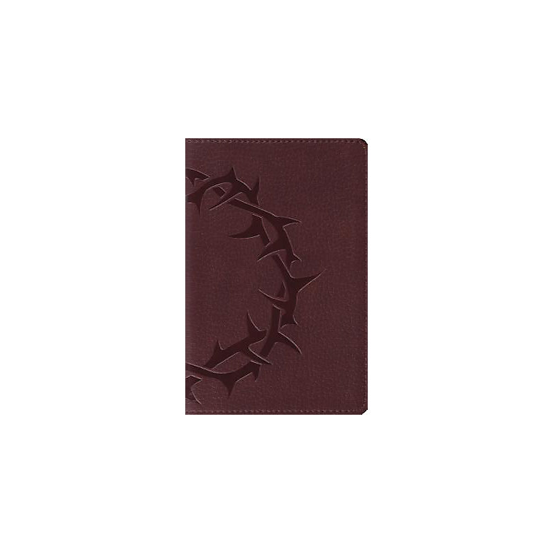 ESV, Deluxe Compact Bible (Trutone, Chestnut, Crown Design)